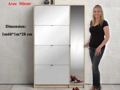 meuble-chaussures-Miroir